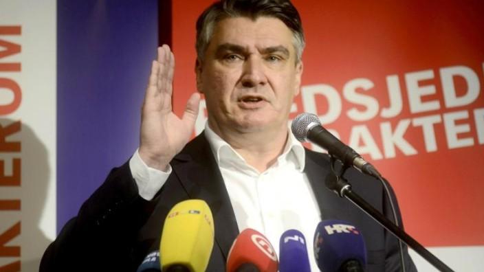 Präsidentschaftswahl - Sozialdemokrat Milanović wird Kroatiens neuer Präsident