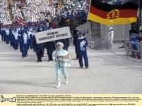 DDR Einmarsch Olympische Spiele Winterspiele Calgary 1988 Frank-Peter Rötsch