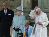 Benedict XVI, Elizabeth II, Prince Philip