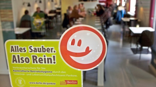 Kennzeichnung für saubere Restaurants