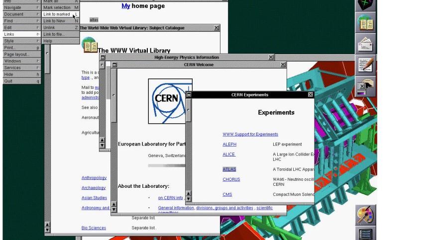 Erst Webseite Tim Berners-Lee