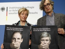 German film director Wenders and Bergmann independent commissioner for sexual abuse  launch of TV campaign against sexual abuse in Berlin