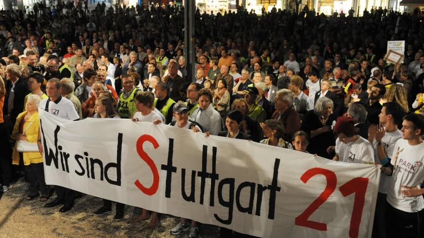 Stuttgart 21 - Demo der Befürworter