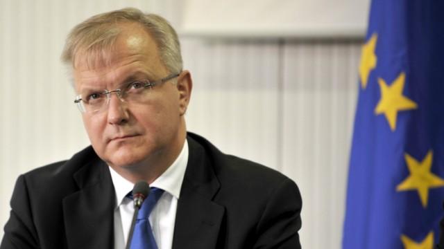 Aus der Krise gelernt: Kommissar Olli Rehn will die EU-Staaten mit neuen Sanktionen zum Sparen zwingen.