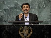 UN-Vollversammlung - Mahmud Ahmadinedschad