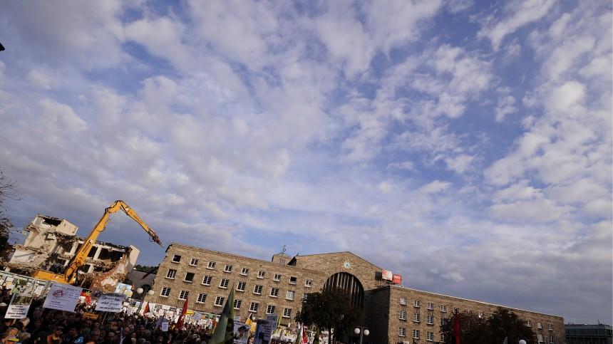 Montagsdemonstration gegen 'Stuttgart 21'