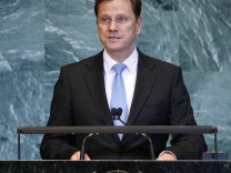 Westerwelle addresses the 65th session of the United Nations General Assembly at the U.N. headquarters, in New York