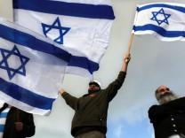 Jüdische Siedler demonstrieren gegen Regierung