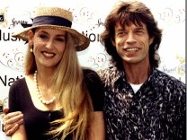 FILE PHOTO OF ROLLING STONES LEAD SINGER MICK JAGGER AND WIFE JERRY HALL