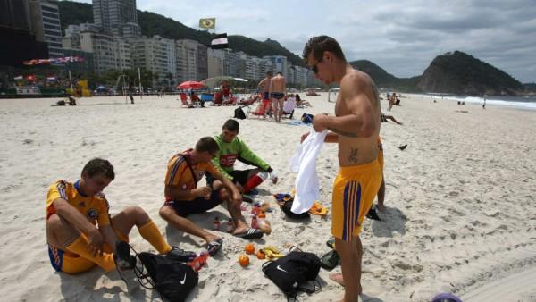 Obdachlosen-WM an der Copacabana