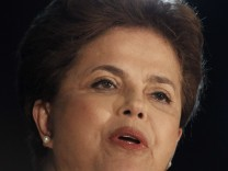 Brazilian presidential candidate for the Ruling Workers Party (PT) Dilma Rousseff speaks after the results of the Brazil's general elections, in uBrasilia