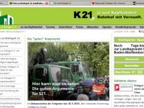 Stuttgart21 Offensive im Netz K21 TT