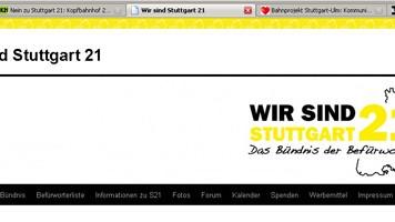Stuttgart21 Offensive im Netz WirsindStuttgart 21 RA