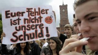 Kinderdienst: Protest: Schueler wollen Mathe-Pruefung nicht noch einmal schreiben