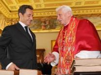 Sarkozy beim Papst