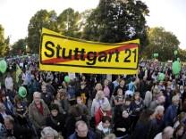 Protest gegen 'Stuttgart 21'