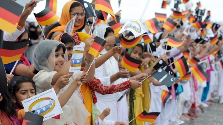 Jahrestreffen der muslimischen Ahmadiyya-Gemeinde in Mannheim