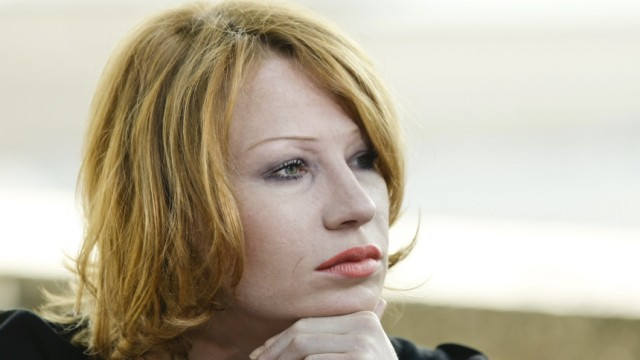 Actress Minichmayr is pictured before a press conference in Salzburg