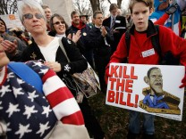 Tea Party Group Holds 'Code Red' Anti Health Care Reform Rally