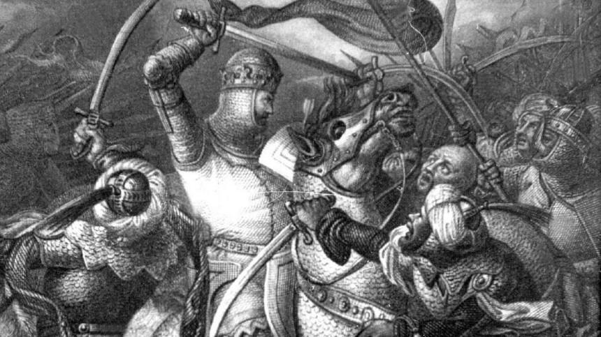 Richard Löwenherz während des 3. Kreuzzuges