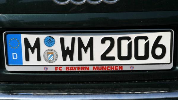 Autokennzeichen Beckenbauer