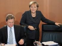 Merkel: Kein Streit mit Westerwelle