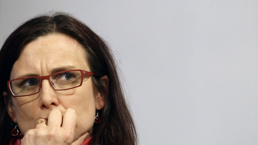European Home Affairs Commissioner Malmstrom attends a news conference during the EU-US Justice and Home Affairs Ministerial Meeting at El Pardo Palace outside Madrid