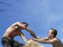 Bergkletterer Vertrauen