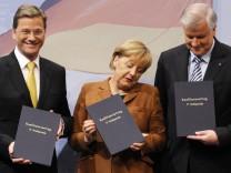 Unterzeichnung des Koalitionsvertrages