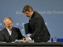 Pk Steuerschätzung - Schäuble und Offer