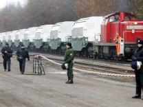 Demnächst unterwegs nach Russland? Elf Castor-Behälter in Dannenberg