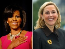Michelle Obama trifft Bettina Wulff