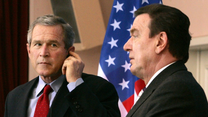 George W. Bush in Mainz, 2005
