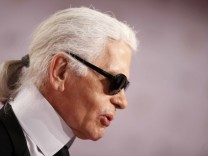 German fashion designer Lagerfeld arrive for  62nd Bambi media awards ceremony in Potsdam