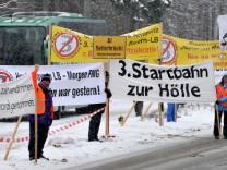 Winterklausur CSU-Landtagsfraktion - Demonstration