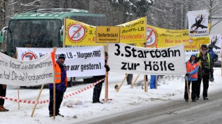 Winterklausur CSU-Landtagsfraktion - Demonstration