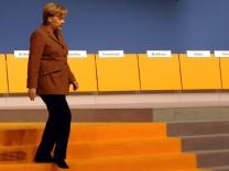 Aufbauarbeiten zum CDU-Parteitag