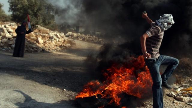 Proteste im Westjordanland ISrael Baustopp Kampfjets Armee MIlitär dpa