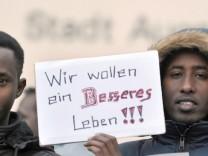 Flüchtlinge demonstrieren