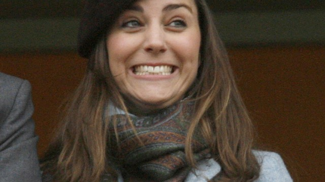 File photograph shows the girlfriend of Britain's Prince William, Kate Middleton, watching the Cheltenham Festival horse racing in Gloucestershire, western England