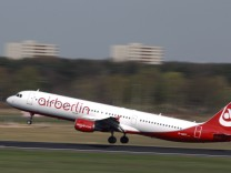 File photo of an Air Berlin plane taking off at Berlin's Tegel airport