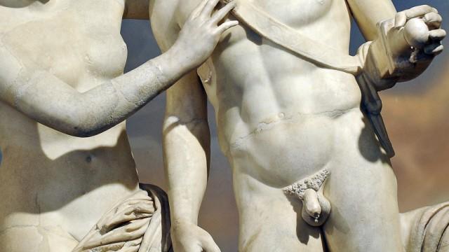 Statue mit groГџem Penis Ebenholz lesbuan