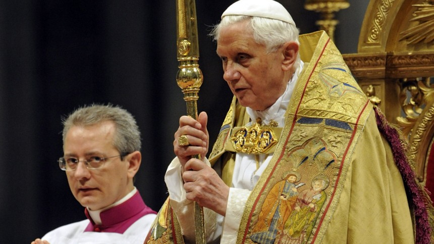 Aids Kondome Kirche Papst Benedikt XVI. im Vatikan