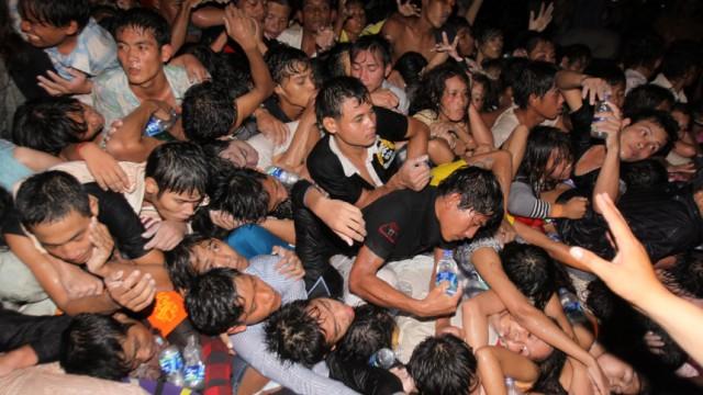 Kambodscha Massenpanik in Kambodscha