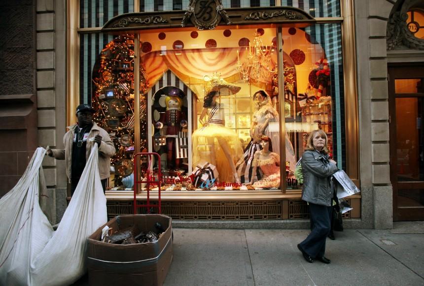 Schaufenster an Weihnachten - Der Blick nach New York - Weihnachts ...