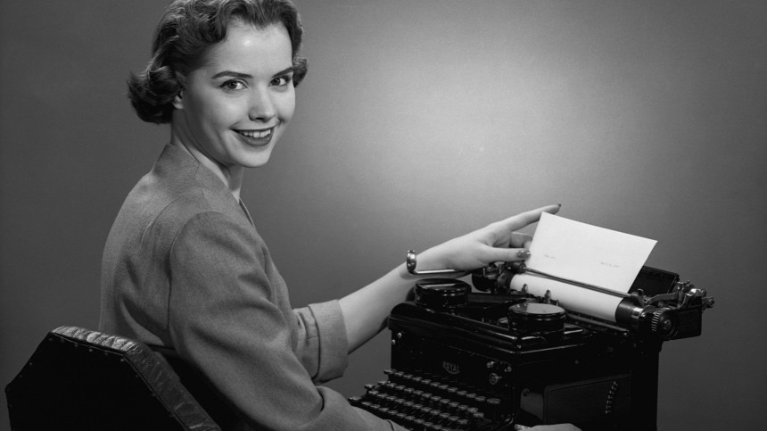 Sekretärin in den 50ern