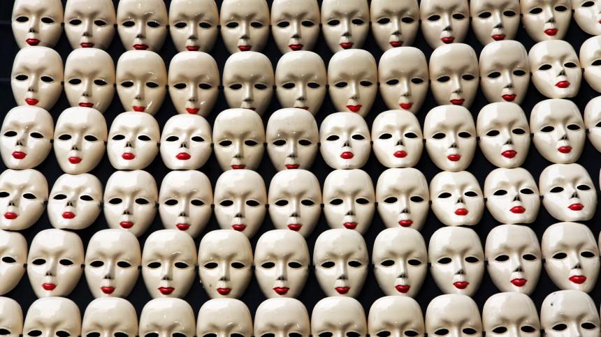 Modewoche in Neu Delhi - Masken