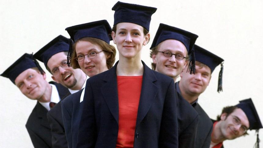 Studenten mit Doktorhut