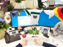 Schreibtische erzählen manches über ihren Besitzer