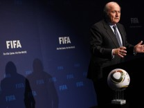 FIFA President Blatter attends a news conference after the Executive Committee meeting at the Home of FIFA in Zurich